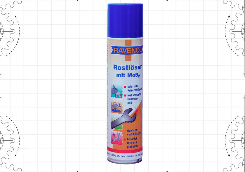 Rostloser mit MoS2 Spray